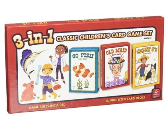 3-in-1 Classic Children's Card Game Set Only $2.59