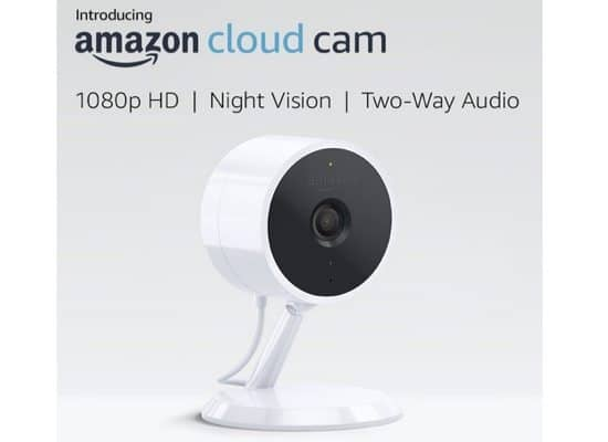 Amazon Cloud Cam Indoor Security Camera (Works with Alexa) $89.99 **Today Only**