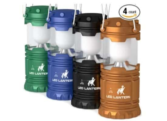 MalloMe LED Camping Lantern Flashlights 4 Pack $15.99 **Only $4 Each**