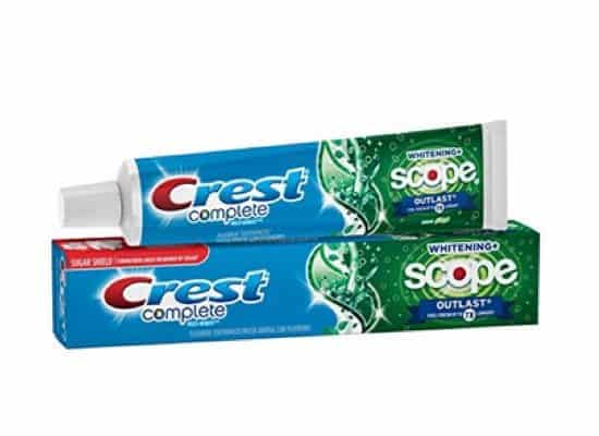 Crest Complete Whitening + Scope Outlast 5.8 Oz ONLY 99¢