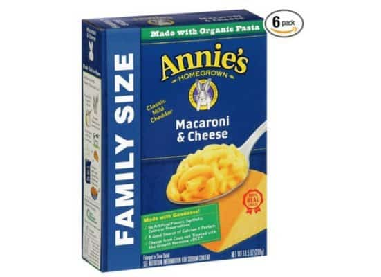 Annie's Organic Family Size Macaroni & Cheese 6-Pack $6.88 **Only $1.15 Per Box**