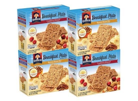 4 Boxes of Quaker Breakfast Flats (Variety Pack) $6.33 **Only $1.58 Per Box**