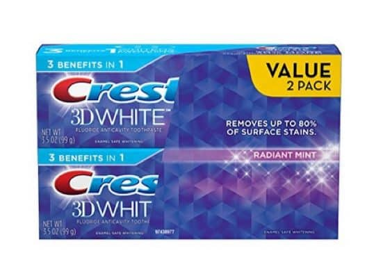 Crest 3D White Two Pack $3.71 **Only $1.89 Per Tube**