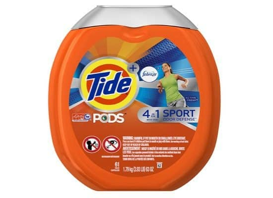 Tide PODS Plus Febreze 4 in 1 Sport Odor Defense HE Turbo Detergent Pacs Only $11.70