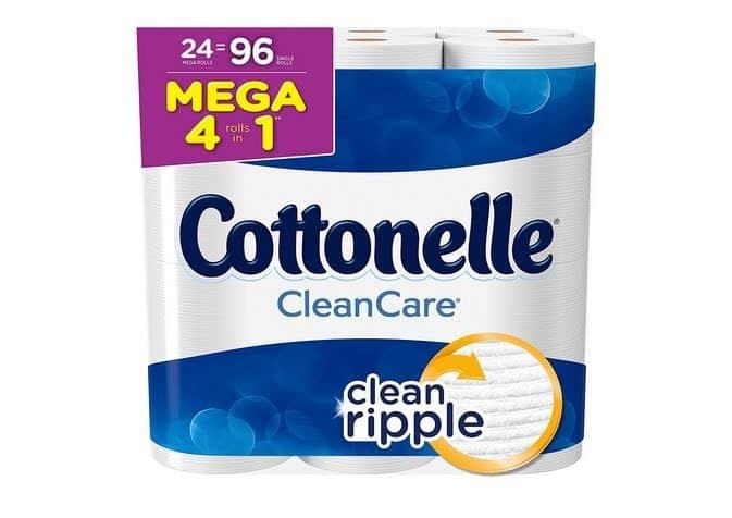 Cottonelle Clean Care Toilet Paper 24 Mega Rolls $17.68 **Only 18¢ Per Regular**
