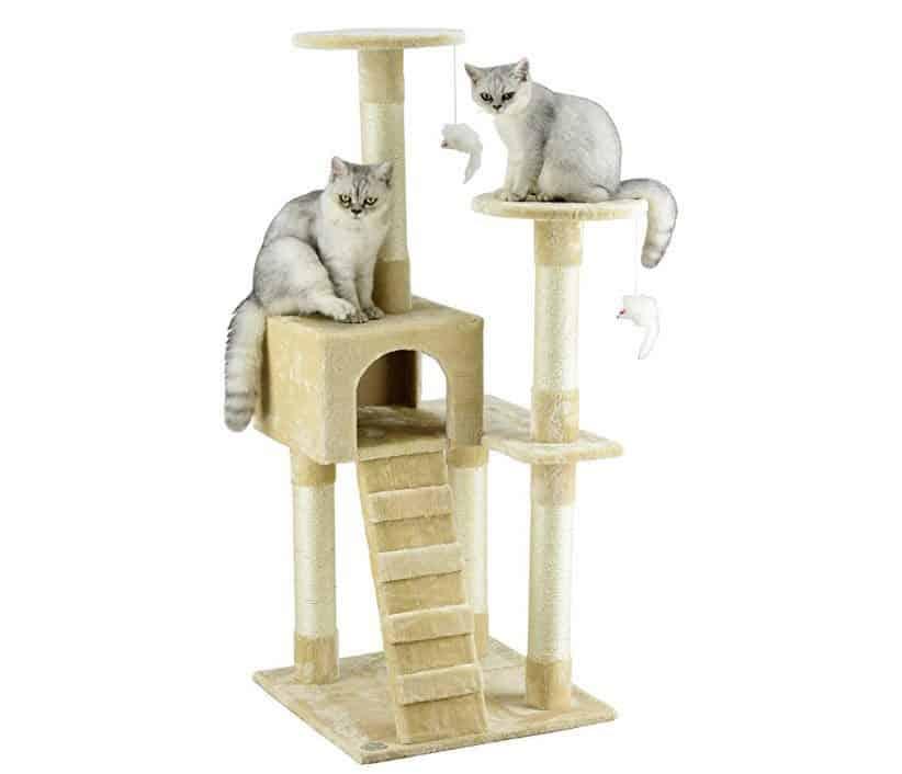 Go Pet Club Cat Tree Furniture Beige $33.67
