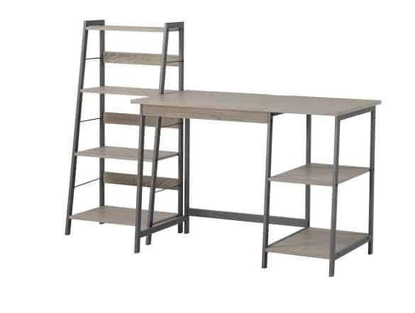 Homestar 2-Piece Laptop Desk and 4-Shelf Bookcase Set, Reclaimed Wood $84.99