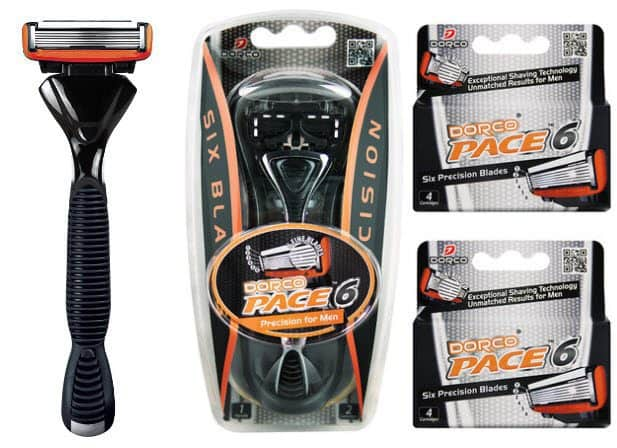 Dorco Pace 6 Blade Razor Shaving System (10 Cartridges + 1 Handle) for $10 + Free Shipping
