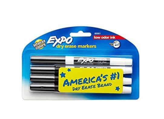 EXPO 86661 Low-Odor Dry Erase Markers 4-Count ONLY $1.99