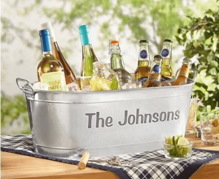 Personalized Galvanized Beverage Tub Only $19.99