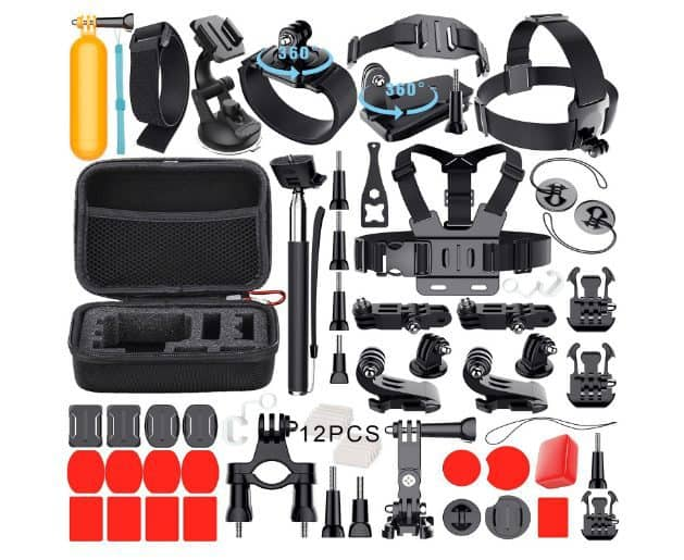 Leknes Common Outdoor Sports Bundle for Action Cameras ONLY $9.49