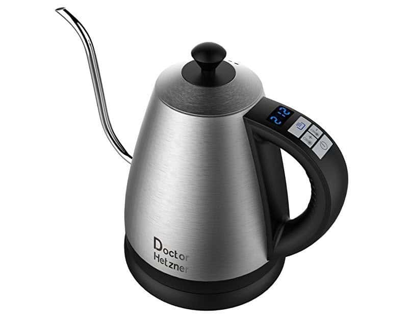 Electric Gooseneck Kettle with Preset Variable Heat Settings ONLY $38.49 Shipped