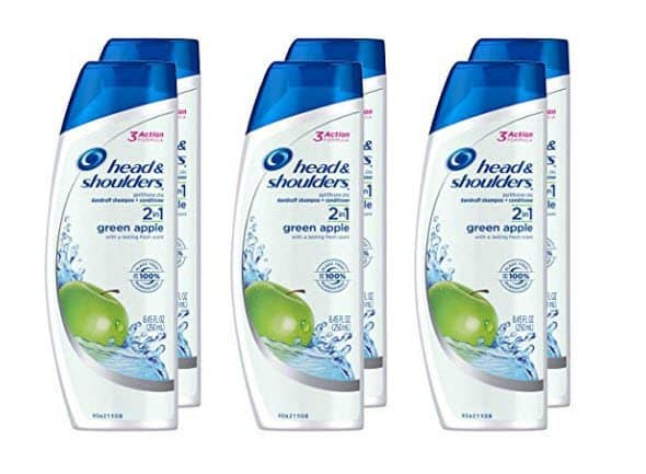 6 Pack of Head and Shoulders Green Apple 2-in-1 Anti-Dandruff Shampoo/Conditioner ONLY $18 - $3 Each
