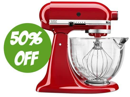 50% off KitchenAid Mixers and Accessories - Stand Mixer $175 Shipped