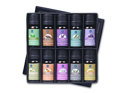 Aromatherapy Top 6 Therapeutic Grade Essential Oils Gift Set ONLY $16.95