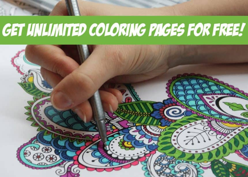 FREE 7 Day Trial to Posh Coloring Studio - Get UNLIMITED Adult Coloring Pages