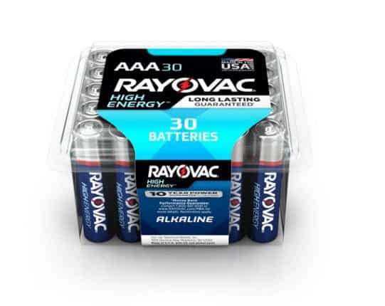 Rayovac 30-Pack AAA or AA Alkaline Batteries ONLY $3.98 @ Home Depot