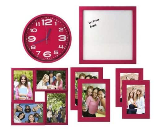 7-Piece Frame, Clock & Room Decor Solution Set Only $9.99 (Was $40)