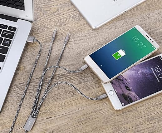 Multi USB Charging Cable ONLY $6.74 **Charge iPhone & Android Devices**