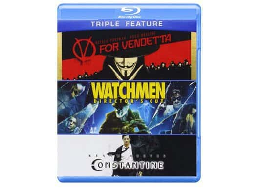 V for Vendetta / Watchmen / Constantine Blu-ray Combo ONLY $9.96