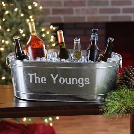 Personalized Galvanized Beverage Tub Only $20