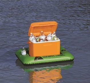 Ozark Trail 28 qt Cooler Float w/ Cup Holders ONLY $3.76
