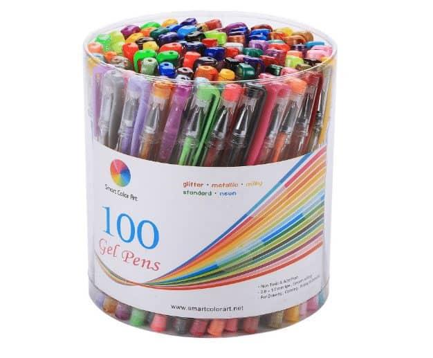 Smart Color Art 100 Colors Gel Pens Set $13.97 (Was $50)