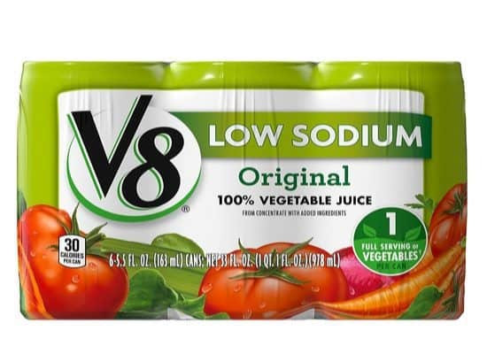 V8 100% Vegetable Juice 24-Pack $7.74 Shipped **Only 32¢ Each**