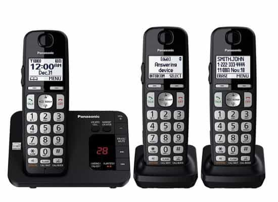 Panasonic Cordless Phone with Answering Machine and 3 Handsets $47.25 **Today Only**