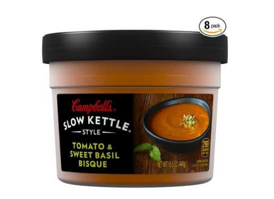 Campbell's Slow Kettle Style Tomato & Sweet Basil Bisque 8-Pack Only $15.50 + More!