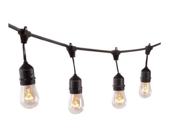 48 Feet Hanging Sockets Outdoor Lights Only $19.80