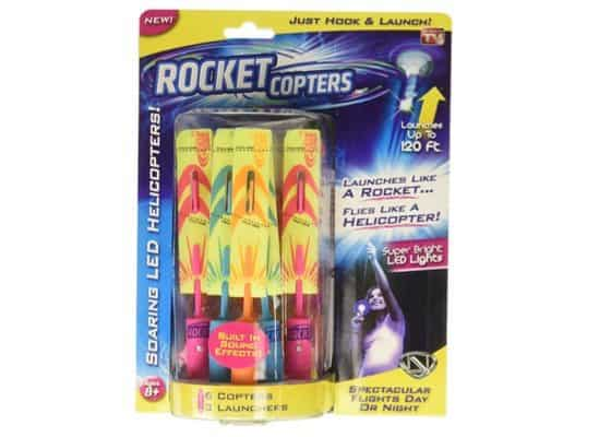 Rocket Copters - The Amazing Slingshot LED Helicopters Only $5