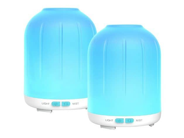 2 Pack Erligpowht Aromatherapy Essential Oil Diffuser Only $11.99