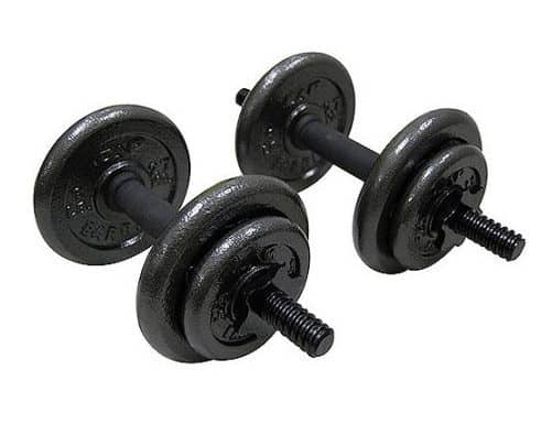 Gold's Gym Adjustable Cast Dumbbell Set, 40 lbs Only $29.99 (Was $80)