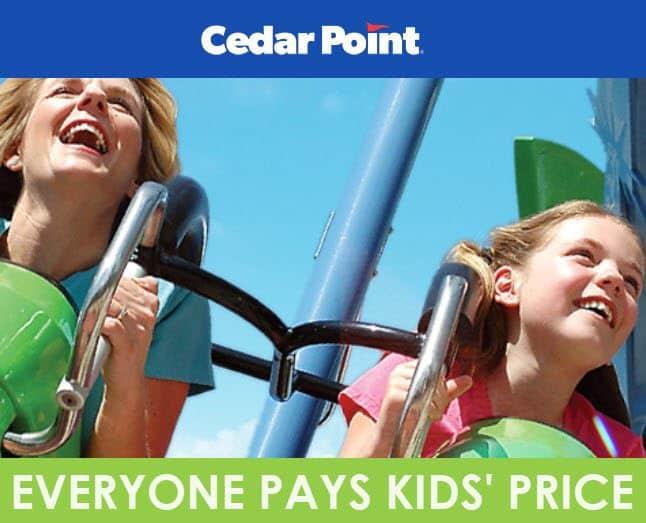 Cedar Point Amusement Park - Everyone Pays KIDS Price