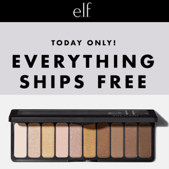 ELF Cosmetics: FREE Shipping on ANY Purchase - No Minimum