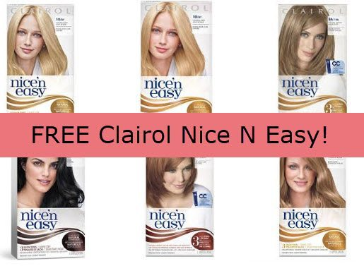 Free Full-Size Box of Clairol Nice N Easy Hair Color **HOT**
