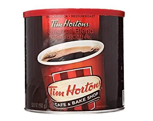 32 Ounces of Tim Hortons 100% Arabica Ground Coffee Only $10.82