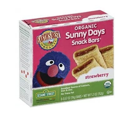 Earth's Best Organic Sunny Days Snack Bars, Strawberry, 8 Count (Pack of 6) Only $15.73