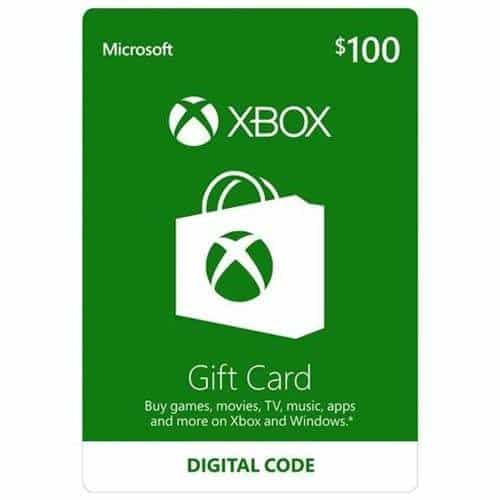$100 Microsoft Xbox Gift Card w/ Email Delivery for Only $85.00