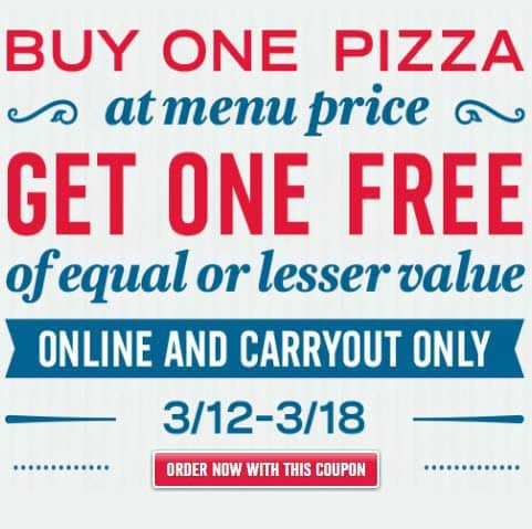 Domino's: Buy One Get One Free Code **Last Chance**
