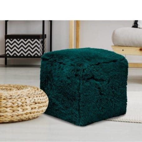 Mainstays Long Hair Faux Fur Pouf Only $10 (Was $30)