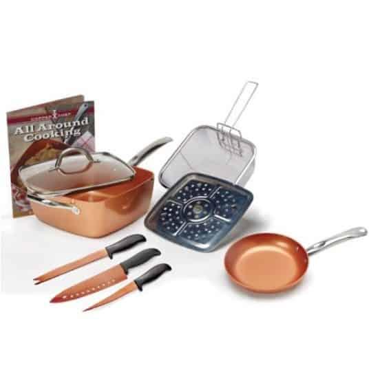 Copper Chef 9pc Pan Set $38.50 (Was $129)