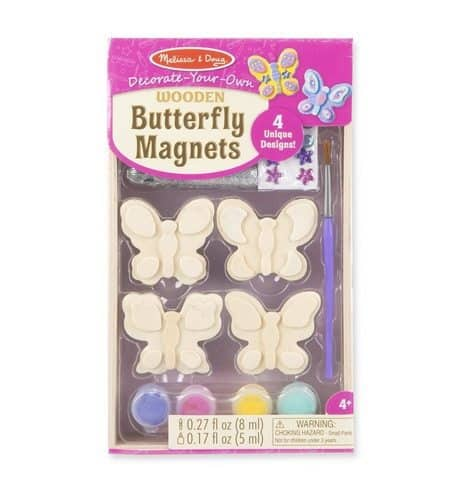 Melissa & Doug Decorate-Your-Own Wooden Butterfly Magnets Craft Kit Only $4.99