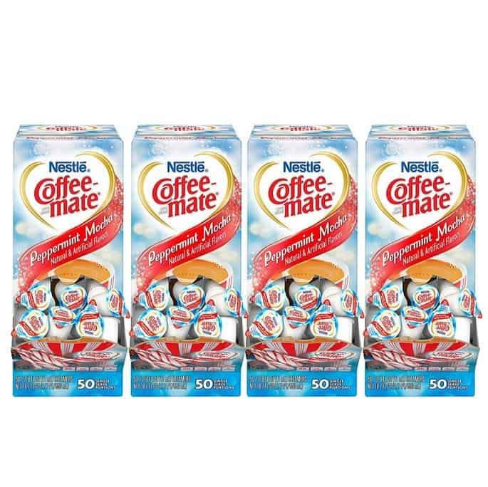 Nestle Coffee-Mate Coffee Creamer, Peppermint Mocha, 200 Count Only $9.99