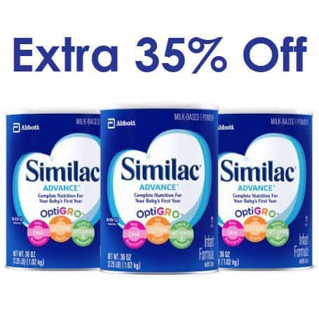 Additional 35% off Similac Formula Coupon - $19 Per Can = Stock Up Time!!!