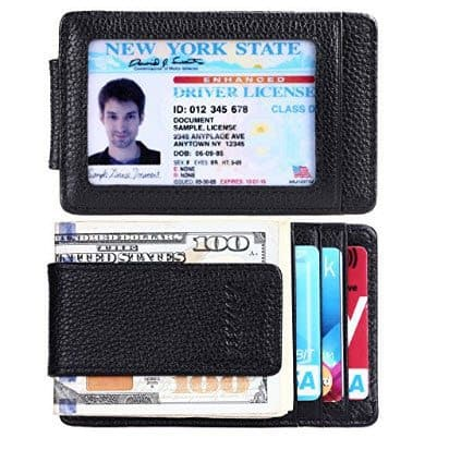 Money Clip Front Pocket Leather Wallet Only $8.96