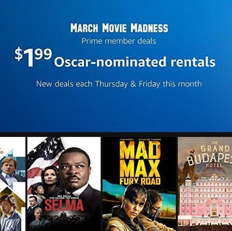 Prime Members - Special Amazon Instant Video Deals - Starting at $1.99