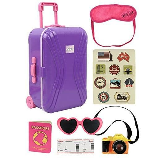 Click N' Play Travel Carry on Suitcase, Perfect For American Girl Dolls Only $14.79 (Was $22.99)
