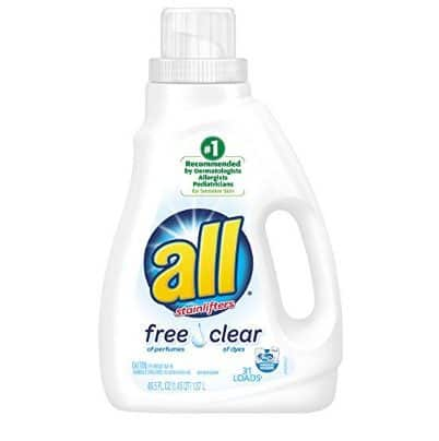 all Liquid Laundry Detergent, Free Clear, 31 Loads Only $2.84